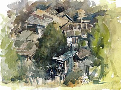 Painting - Squat Community Jamaica  by Gaston McKenzie