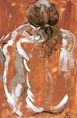 Painting - Squatting Male by Joanne Claxton