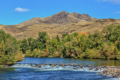 Photograph - Squaw Butte And The Payette River by Robert Bales