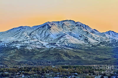 Photograph - Squaw Butte With The Morning Glow by Robert Bales