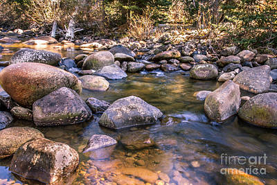 Autumn Scene Photograph - Squaw Creek by Robert Bales