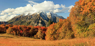 Photograph - Squaw Peak Fall Pano by Johnny Adolphson