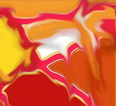 Digital Art - Squazzle Art - Top Right Section by Julia Woodman