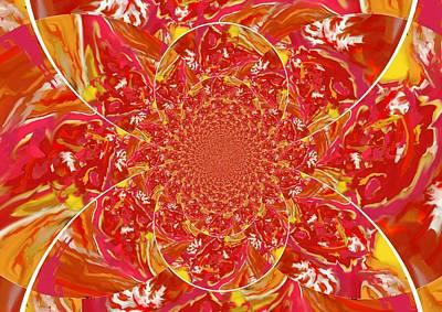 Digital Art - Squazzle-botright-kaleidoscope by Julia Woodman