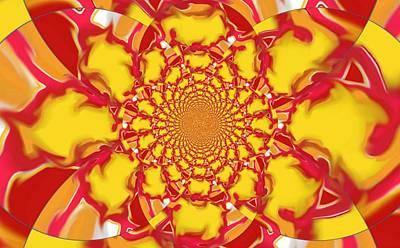 Digital Art - Squazzle-topleft-kaleidoscope  by Julia Woodman