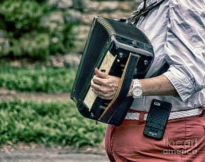 Musicians Photograph - Squeeze Box  by Steven Digman