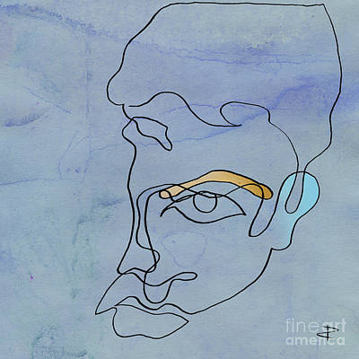 Painting - Squgiglehead With Ochre Eyebrow And Cold Ear by Paul Davenport