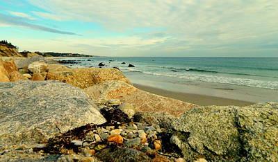 Squibby Cliffs And Mackerel Sky Art Print
