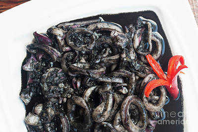 Photograph - Squid In Ink by Atiketta Sangasaeng