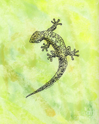 Painting - Squiggle Gecko by Diane Thornton