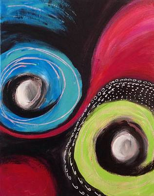 Art Print featuring the painting Squiggles And Wiggles   by Suzzanna Frank
