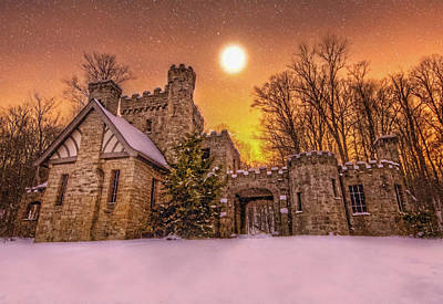 Squires Castle In The Winter Art Print by Brent Durken