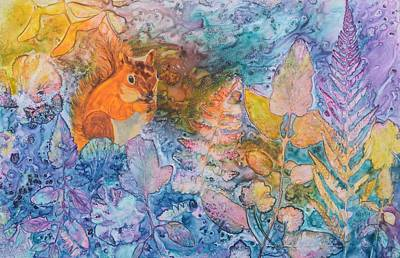 Painting - Squirrel Hollow by Nancy Jolley