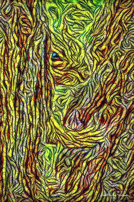 Digital Art - Squirrel In Sheltering Tree by Joel Bruce Wallach