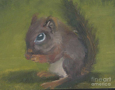 Painting - Squirrel by Jessmyne Stephenson