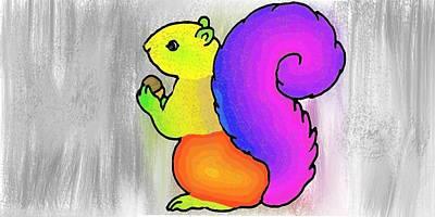 Squirrel Art Print by Prasna Velcheru