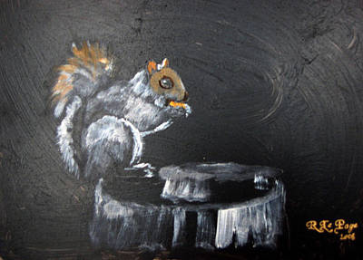 Painting - Squirrel by Richard Le Page