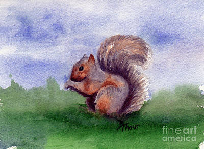 Painting - Squirrel Study by Brenda Thour