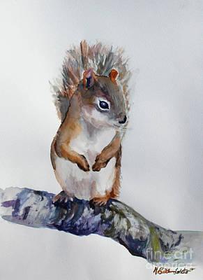 Squirrel Woodland Animal Watercolor Original by Caitlin Lodato