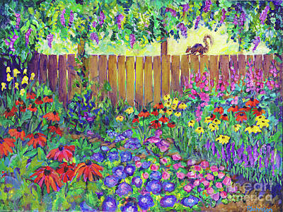 Painting - Squirrel's View By Peggy Johnson by Peggy Johnson