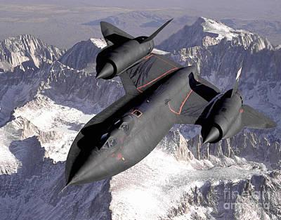 Photograph - Sr-71 Blackbird, 1994. by Granger
