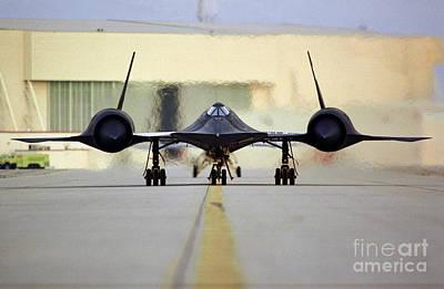 Photograph - Sr-71 Blackbird, 1995. by Granger