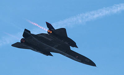 Photograph - Sr-71 Blackbird Flyby by John Clark