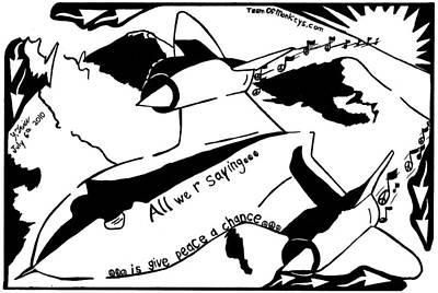 Sr-71 Blackbird Maze Cartoon By Yonatan Frimer Art Print by Yonatan Frimer Maze Artist