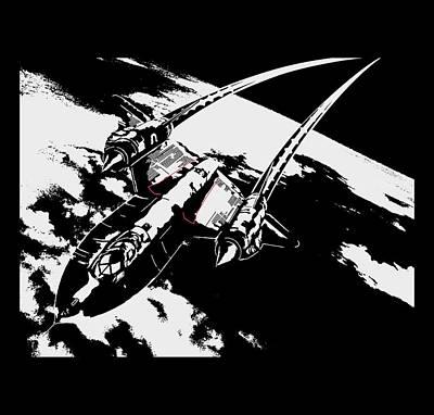 Digital Art - Sr-71 Flying High by Ewan Tallentire