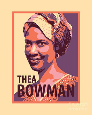 Painting - Sr. Thea Bowman - Jltbo by Julie Lonneman