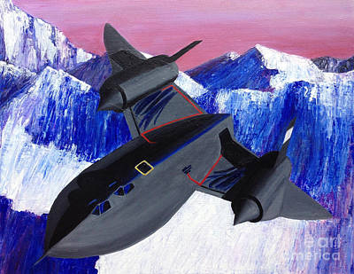 Sr-71 Painting - Sr71 Blackbird Jet by Ashley Baldwin