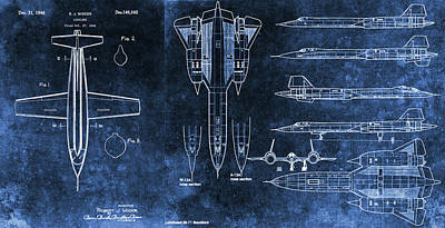 Mixed Media - Sr71 X1 Patent Design by Dan Sproul