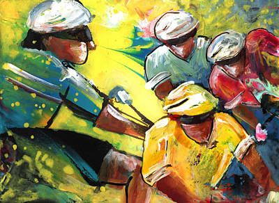 Painting - Dreaming Of The Tour De France by Miki De Goodaboom