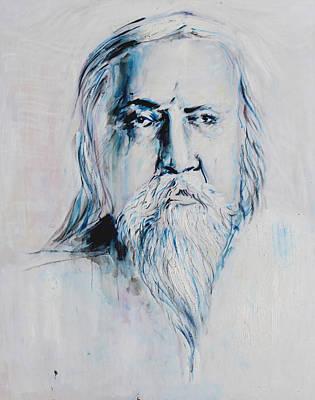 Oneness Painting - Sri Aurobindo by Alexander Carletti