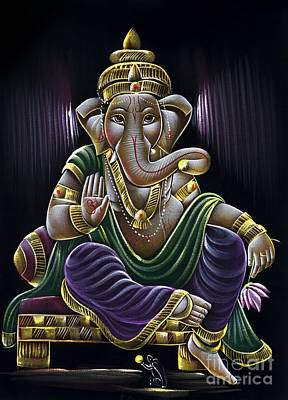 Tim Painting - Sri Ganapati by Tim Gainey