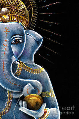 Painting - Sri Ganesha by Tim Gainey