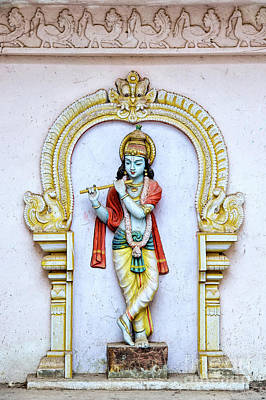Photograph - Sri Krishna Temple Statue by Tim Gainey
