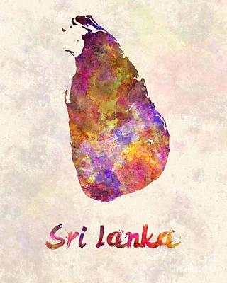Sri Lanka In Watercolor Art Print by Pablo Romero