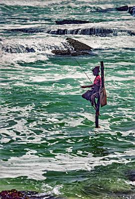 Angling Photograph - Sri Lanka - Stilt Fisherman 2 by Steve Harrington