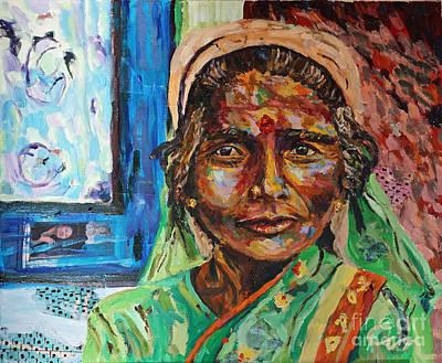 Painting - Sri Lanka Wisdom by Michael Cinnamond