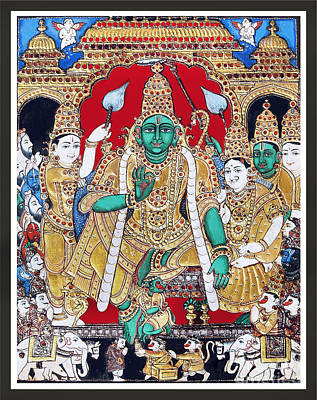 Sri Ramar Pattabhishekam Art Print