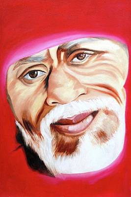 Sai Baba Painting - Sri Shirdi Sai Baba  by Kalpana Gandhi