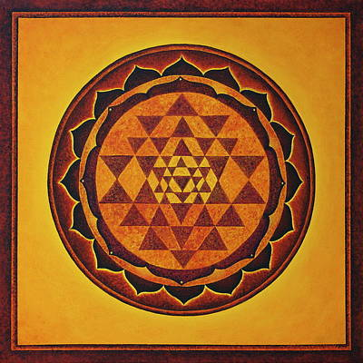 Painting - Sri Yantra - The Glow Of The Beloved by Erik Grind
