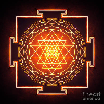 Hinduism Digital Art - Sri Yantra - Artwork 11 by Dirk Czarnota