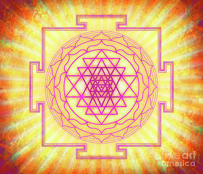 Tantra Digital Art - Sri Yantra - Artwork 12 by Dirk Czarnota