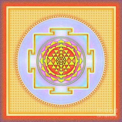 Sriyantra Digital Art - Sri Yantra - No. 3 by Dirk Czarnota
