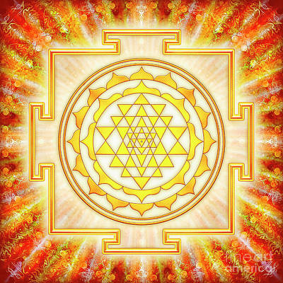 Sri Yantra - Artwork Light Art Print