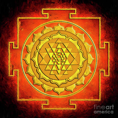 Sri Yantra - Artwork Warming Art Print