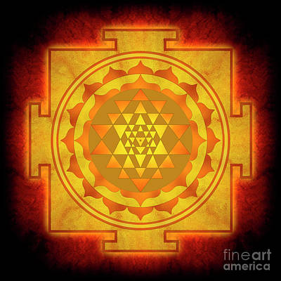 Spiritual Mixed Media - Sri Yantra - No. 1 by Dirk Czarnota