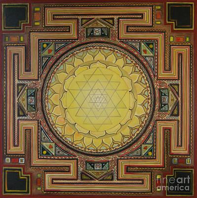 Sri Yantra Art Print by Karl Seitinger